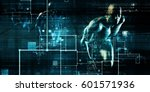 data network with fast moving... | Shutterstock . vector #601571936