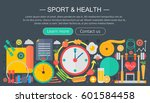 healthy lifestyle concept with... | Shutterstock .eps vector #601584458