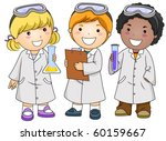 a small group of kids in...   Shutterstock .eps vector #60159667