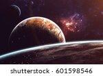 cosmic art  science fiction... | Shutterstock . vector #601598546