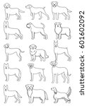 dog breeds line art set | Shutterstock .eps vector #601602092