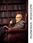 An Old Intelligent Man Reading...