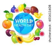 earth planet health world day... | Shutterstock .eps vector #601611608