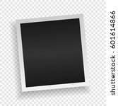 photo frame. white plastic... | Shutterstock .eps vector #601614866