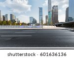 urban traffic with cityscape in ... | Shutterstock . vector #601636136