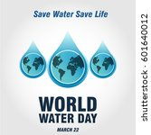 world water day | Shutterstock .eps vector #601640012