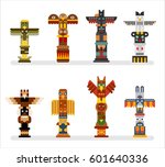 native totem tower vector... | Shutterstock .eps vector #601640336