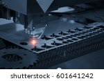 the cnc laser cut machine while ... | Shutterstock . vector #601641242