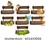 days of the week with many... | Shutterstock .eps vector #601643006