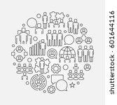 team circular linear... | Shutterstock .eps vector #601644116