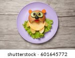 Panda Made Of Bread  Cheese An...