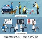 crime investigation flat... | Shutterstock .eps vector #601659242