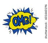 pop art omg logo. retro style... | Shutterstock . vector #601660196