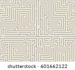 intricacy maze labyrinth... | Shutterstock .eps vector #601662122