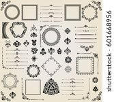 vintage set of vector... | Shutterstock .eps vector #601668956