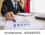 businessman working at office.... | Shutterstock . vector #601669292