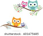 Stock vector owl cute in vector 601675685