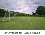 soccer field with cloudy in the ... | Shutterstock . vector #601678685