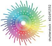 colored pencils arrange in... | Shutterstock .eps vector #601691552