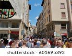 florence  italy   august 19 ... | Shutterstock . vector #601695392