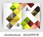 square annual report brochure...   Shutterstock .eps vector #601699478