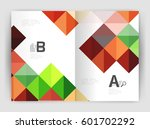 square annual report brochure... | Shutterstock .eps vector #601702292