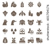 set of agriculture icons....   Shutterstock .eps vector #601704176