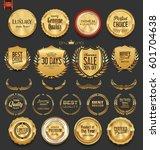 luxury  golden design elements...   Shutterstock .eps vector #601704638