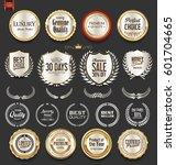 luxury  golden design elements... | Shutterstock .eps vector #601704665