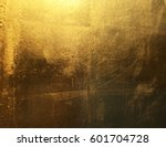 gold abstract background with... | Shutterstock . vector #601704728