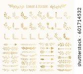 vector golden corners and... | Shutterstock .eps vector #601714532