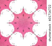 round pink patterns with dots.... | Shutterstock .eps vector #601716722