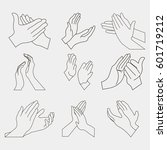 applause set clapping hands... | Shutterstock .eps vector #601719212