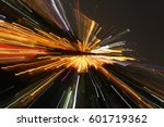 abstract night acceleration... | Shutterstock . vector #601719362