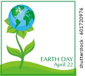 earth day. vector background... | Shutterstock .eps vector #601720976