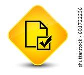 survey icon isolated on elegant ... | Shutterstock . vector #601722236