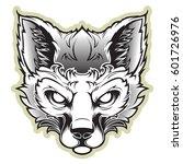 fox mascot for a sport team on... | Shutterstock .eps vector #601726976