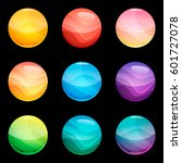 colorful round glossy buttons...