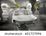 automobile frame manufacturing... | Shutterstock . vector #601727096