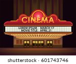 brightly theater glowing retro... | Shutterstock .eps vector #601743746