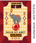 circus poster best show with... | Shutterstock .eps vector #601747376