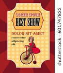 circus poster best show with... | Shutterstock .eps vector #601747832