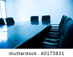 meeting room with blue tint | Shutterstock . vector #60175831