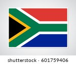 flag of south africa. | Shutterstock .eps vector #601759406