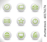 grey balls with green icon and... | Shutterstock .eps vector #60176176