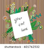 paper background template with... | Shutterstock .eps vector #601762532