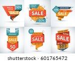 big set of sale banners.... | Shutterstock .eps vector #601765472