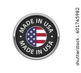 "round ""made in usa"" badge with... 