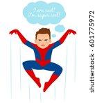 superhero spider boy vector... | Shutterstock .eps vector #601775972
