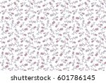 raster seamless little flower... | Shutterstock . vector #601786145